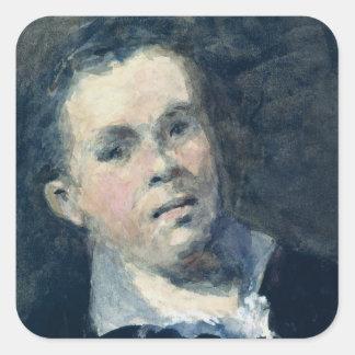 Jefe de Goya Pegatina Cuadrada
