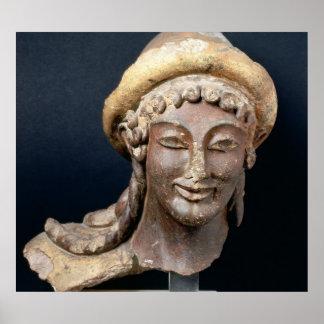 Jefe de Hermes que lleva pilos Póster