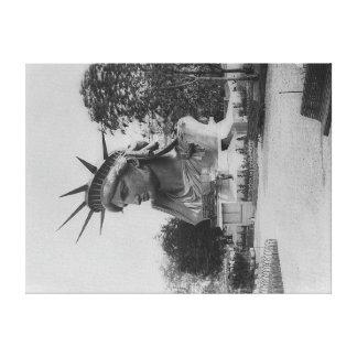 Jefe de la estatua de la libertad en el parque de  impresiones en lona estiradas