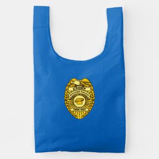 Jefe de la insignia de la policía de cocina bolsa reutilizable