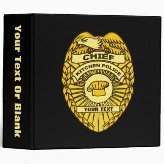 """Jefe de la insignia de la policía de cocina carpeta 2"""""""