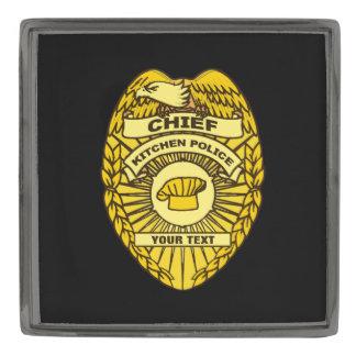 Jefe de la insignia de la policía de cocina pins plomizos