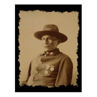 Jefe de la postal 1898 de la tribu de Chiricahua a