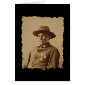 Jefe de la tarjeta de la tribu 1898 de Chiricahua