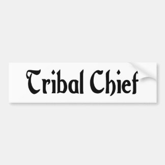 Jefe de la tribu de la pegatina para el parachoque pegatina de parachoque