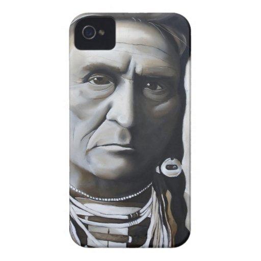Jefe de la tribu del caso del iPhone 4 del nativo Case-Mate iPhone 4 Protectores
