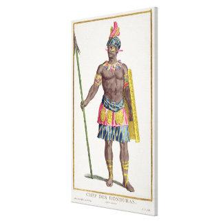 Jefe de los Hondurans, 1780 (grabado coloreado) Impresiones En Lona Estiradas