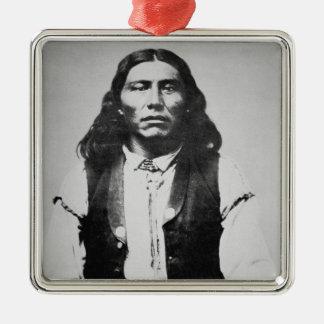 Jefe de Naiche d 1874 de los apaches de Chiricah Ornamento Para Arbol De Navidad