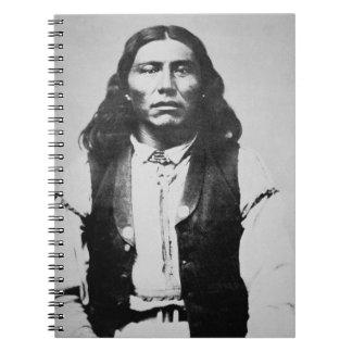 Jefe de Naiche d 1874 de los apaches de Chiricah Cuaderno