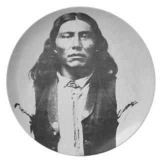 Jefe de Naiche d 1874 de los apaches de Chiricah Platos De Comidas