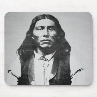 Jefe de Naiche d 1874 de los apaches de Chiricah Alfombrillas De Ratón