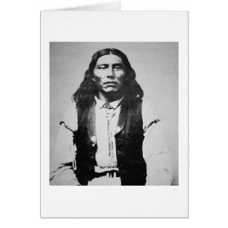 Jefe de Naiche d 1874 de los apaches de Chiricah Felicitación