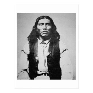 Jefe de Naiche d 1874 de los apaches de Chiricah Postal