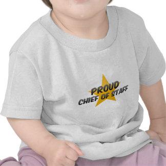 Jefe de personal orgulloso camisetas