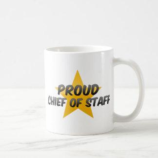 Jefe de personal orgulloso tazas de café