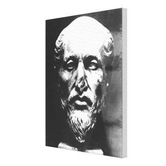 Jefe de Plotinus Impresión En Lienzo