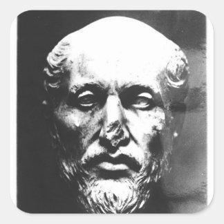 Jefe de Plotinus Pegatina Cuadrada