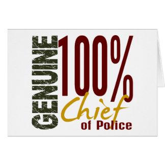 Jefe de policía auténtico felicitacion