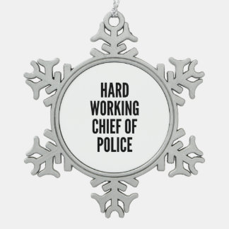 Jefe de policía de trabajo duro adorno