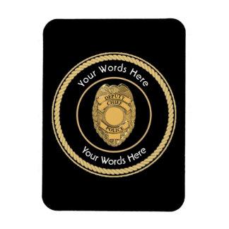 Jefe de policía del diputado universal imanes de vinilo