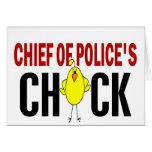 Jefe de policía del polluelo felicitación