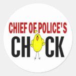 Jefe de policía del polluelo pegatinas