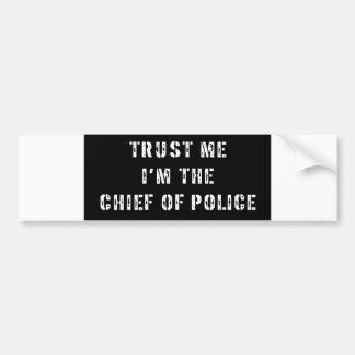 Jefe de policía del super héroe pegatina para auto