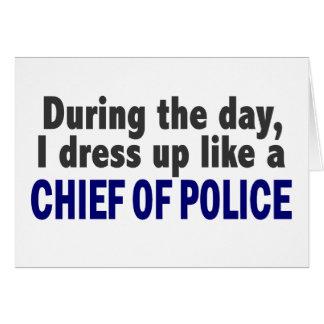 Jefe de policía durante el día tarjeta de felicitación