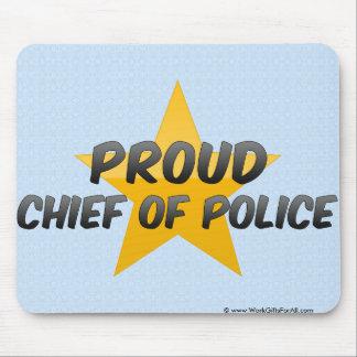 Jefe de policía orgulloso tapetes de raton