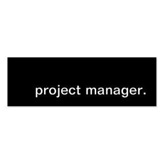 jefe de proyecto plantilla de tarjeta personal