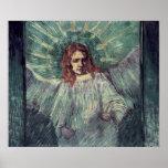 Jefe de un ángel, después de Rembrandt, 1889 Póster
