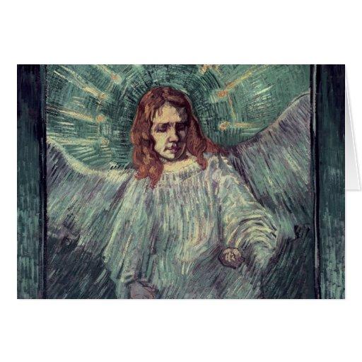 Jefe de un ángel, después de Rembrandt, 1889 Tarjeta De Felicitación