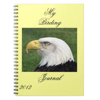 Jefe de un diario de Eagle Birding Notebook