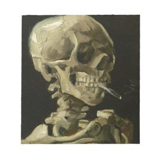 Jefe de un esqueleto blocs de notas