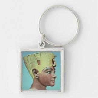 "Jefe de un ""maniquí"" del Tutankhamun joven Llavero Personalizado"