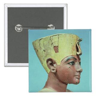 "Jefe de un ""maniquí"" del Tutankhamun joven Pin Cuadrada 5 Cm"
