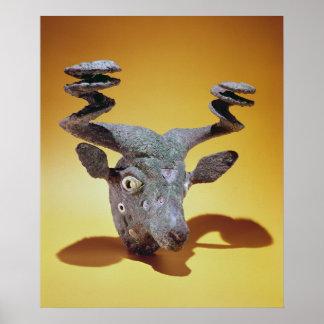 Jefe de una Bull, de Iraq, c.2000 A.C. Póster