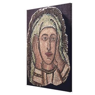 Jefe de una de las mujeres santas, de Turquía Impresión En Lienzo Estirada