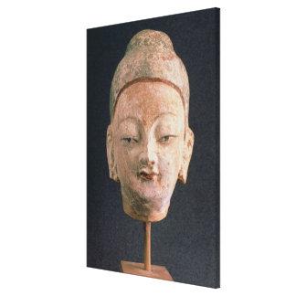 Jefe de una estatua de Buda, de Bezeklik Lona Estirada Galerías