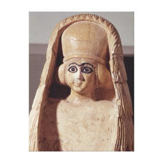 Jefe de una estatua de Ishtar, a que lleva Lienzo Envuelto Para Galerias