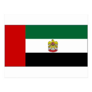 Jefe de United Arab Emirates de bandera del estado Tarjeta Postal