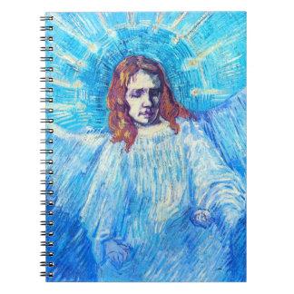 Jefe de Van Gogh de un cuaderno del ángel