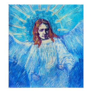 Jefe de Van Gogh de un poster del ángel