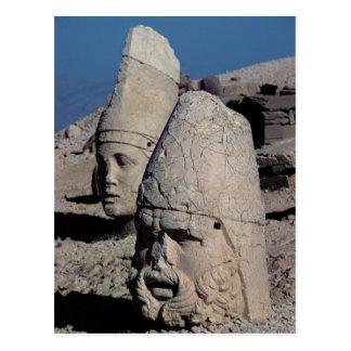 Jefe de Zeus-Oromandes y una diosa Postal