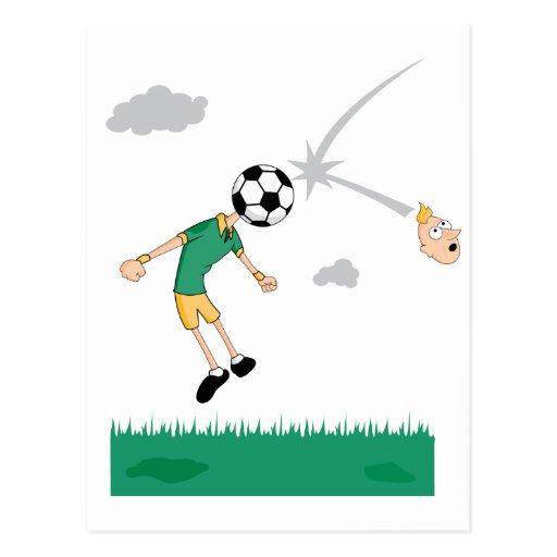 Jefe del balón de fútbol postal