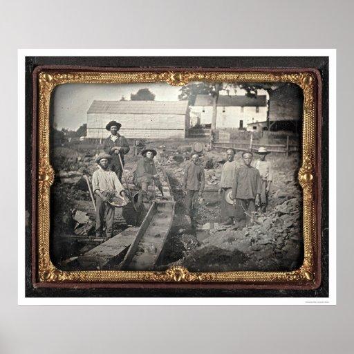 Jefe del barranco castaño, 1852 de José Blaney ríg Impresiones