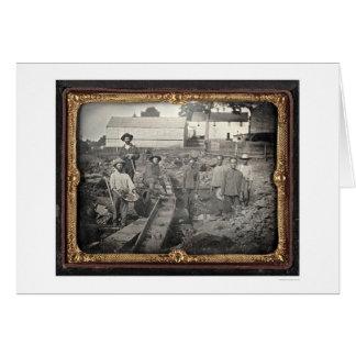 Jefe del barranco castaño, 1852 de José Blaney ríg Felicitación