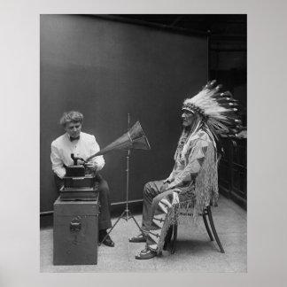 Jefe del Blackfoot de la grabación de audio de Fra Impresiones