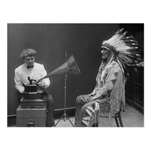 Jefe del Blackfoot de la grabación de audio de Postal