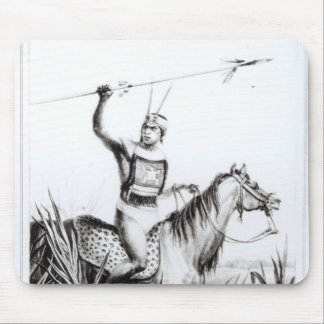 Jefe del Charruas, grabado por C. Motte Tapetes De Ratones